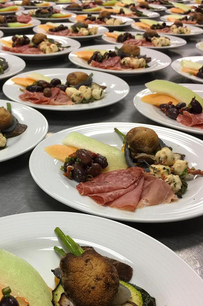 Gourmet catering for parties, meetings or events